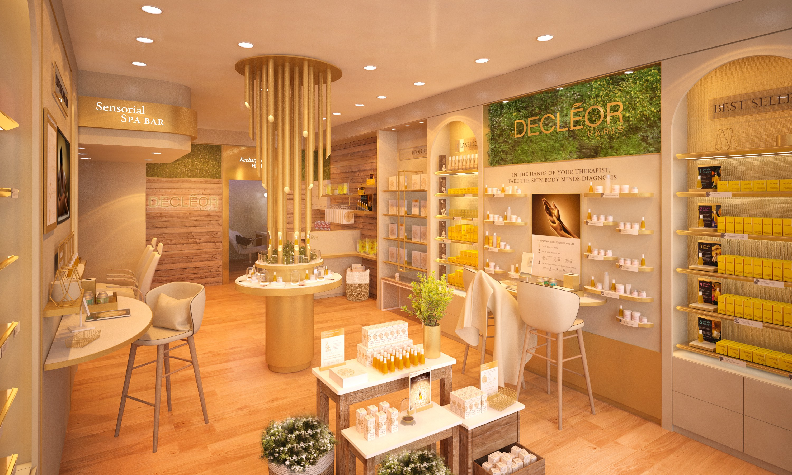 Decleor boutique retail space