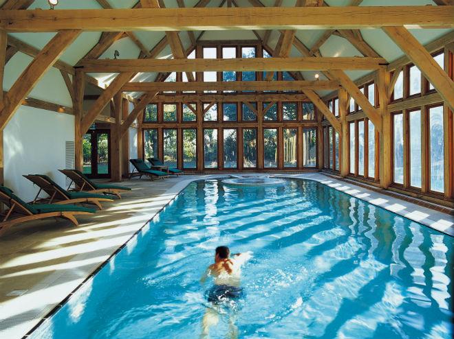 Indoor pool at Bailiffscourt Hotel
