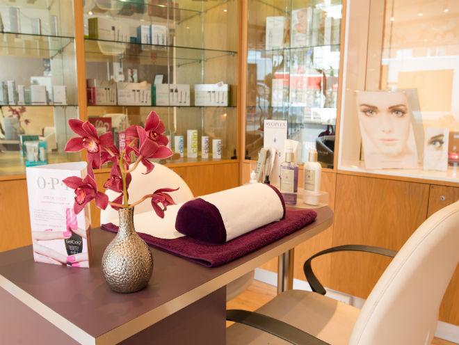 Manicure area at Utopia Beauty