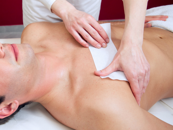 Men chest wax