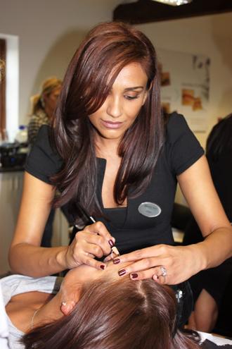 Nilam Patel doing HD Brows