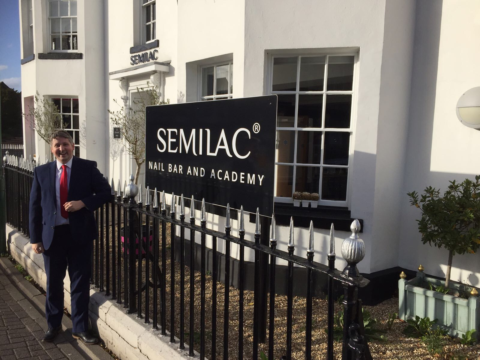 Semilac UK Managing Director Antonio Socci outside the salon HQ in Solihull