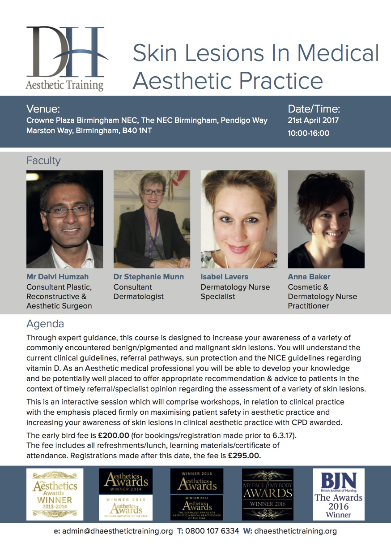 Aesthetic Medicine - Dalvi Humzah launches Skin Lesions in Medical
