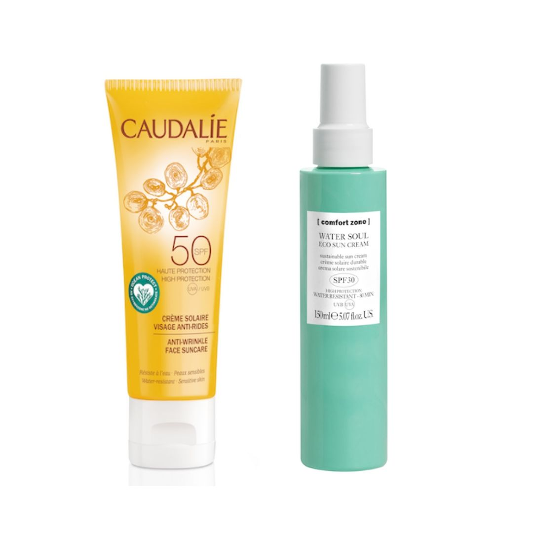 Caudalie and Comfort Zone Marine-friendly sun care