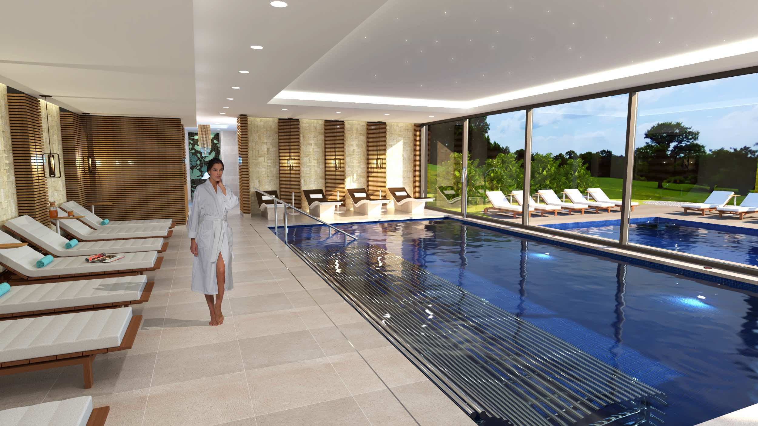 The Spa at Carden pool area
