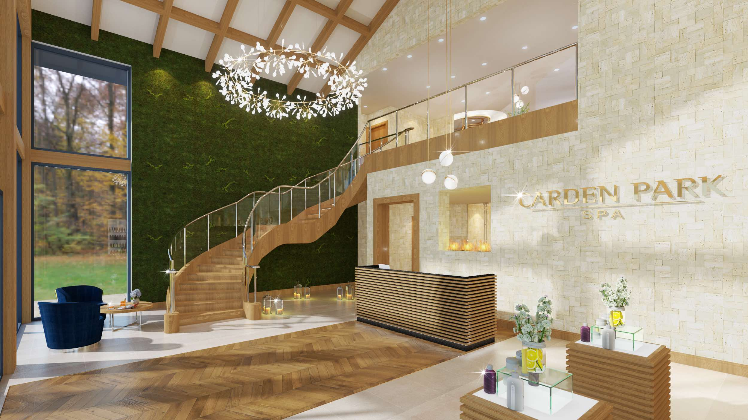 The Spa at Carden reception area