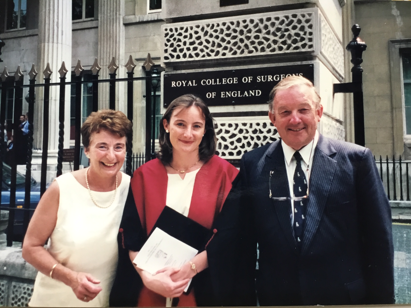 O'Brien with her parents when she qualified